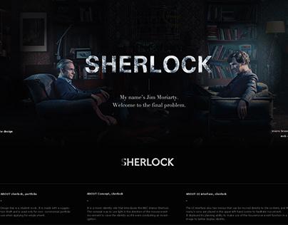 SHERLOCK, branding UX UI Site Design