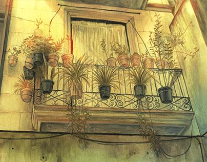 Balcony Matte Painting