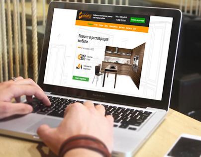 Разработали сайт Ремонт и реставрация мебели