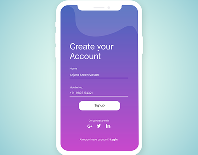 #UI 1_ Signup Page