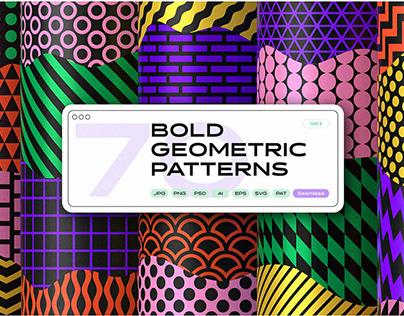 Bold Geometric Seamless Patterns SetbySamolevsky