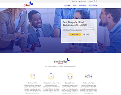 altus Website redesign