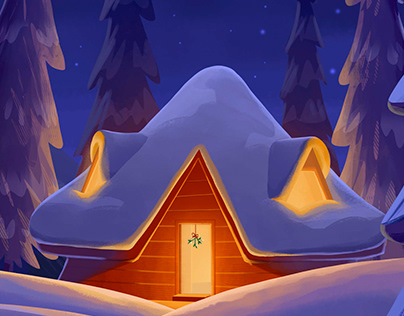 Christmas Call - digital illustration