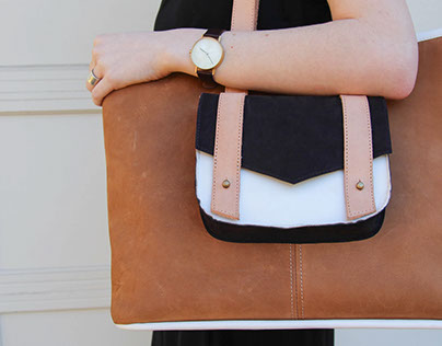 Color-Blocked Tote
