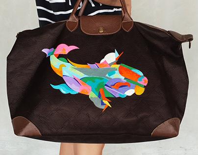 Longchamp Bag Painting