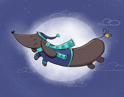 Dreaming dachshund