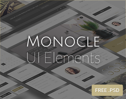 FREEBIE : Monocle UI Elements