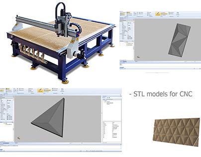 STL models for CNC