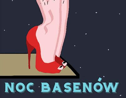 Plakat na konkurs Nocy Basenów w Bukowinie Tatrzańskiej