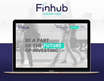 Finhub Technologies Landing Page
