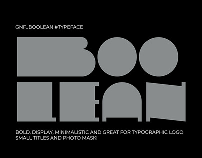 GNF Boolean typeface