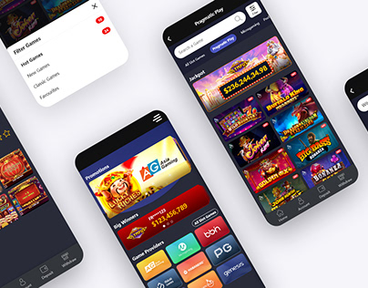 Mobile UI: Online Casino Page