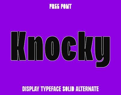 Knocky - New Free Font