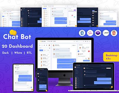 Chatx Bot Responsive Bootstrap Admin Dashboard Template