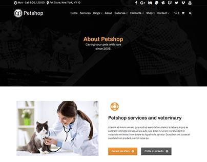 About Page - Petshop WordPress Theme