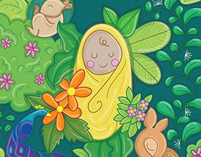Baby Announcement Invitation Card