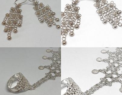 Gümüş, telkâri, tesbih dekupajı