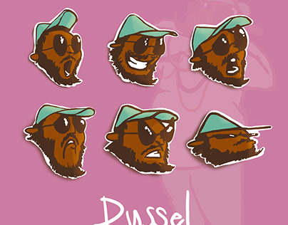Russel the Bass Player Character Design