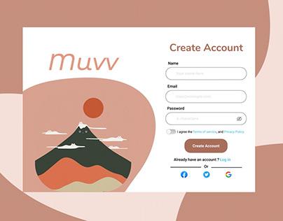 Create Account form