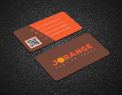 card visit for a comapny named jorange