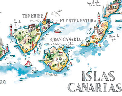 Illustration map - Cícero Canary 2015