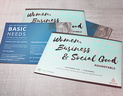 Event Postcards with non-profit ad on backside