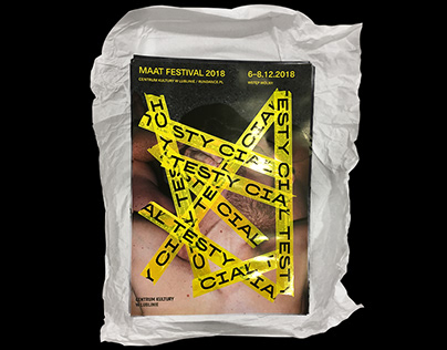 MAAT FESTIVAL 2018 — TESTY CIAŁ / BODY TESTS identity