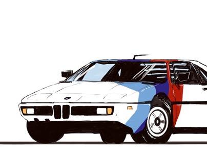 BMW M1 sketch