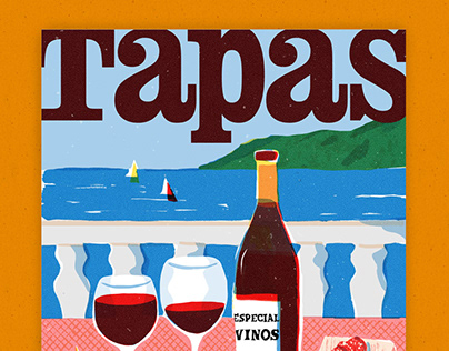 Tapas magazine cover and spots