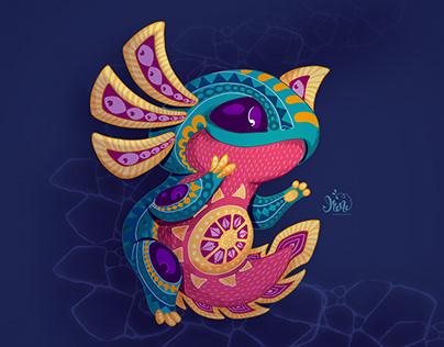 Axolotl Alebrije. Character design
