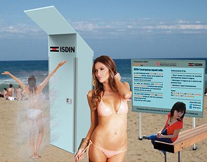 Sunscreen dispenser (sponsored Summer campaign)