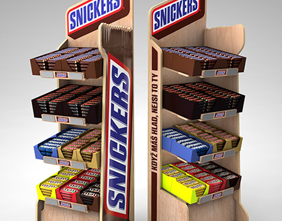 Snickers display, Mars - easy and portable