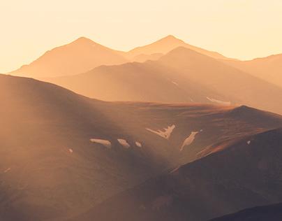 Warm Light on Mount Evans