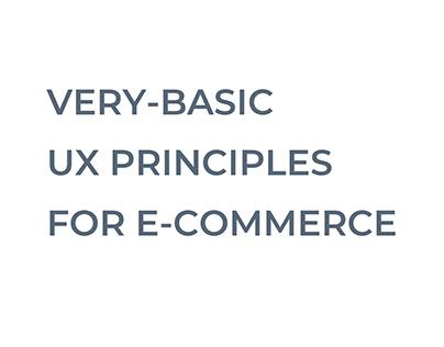 Basic UX principles for e-commerce