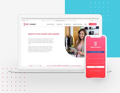 E-commerce App Landing Page
