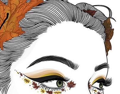Leaves Outline Art