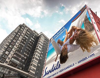 Sandals: brochures, booklets billboards, flyers & ads