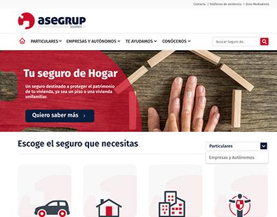 Insurance company UX/UI Website Design