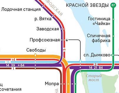 Kirov bus system map v2.0