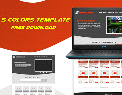 Free Download Template 5Color