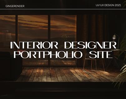 Website portfolio for Interior designer