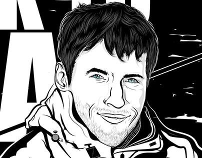 Line Art Portrait in Adobe Illustrator
