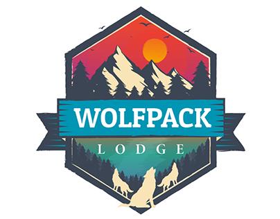 Wolfpack Lodge Logo Design