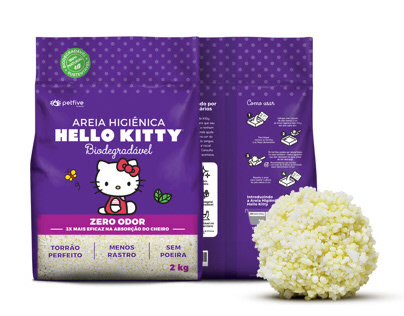 Embalagens Areia Higiênica Hello Kitty