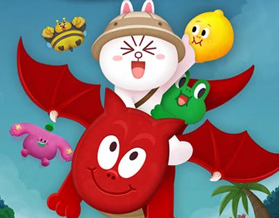 LINE Bubble2 - Game UI Design