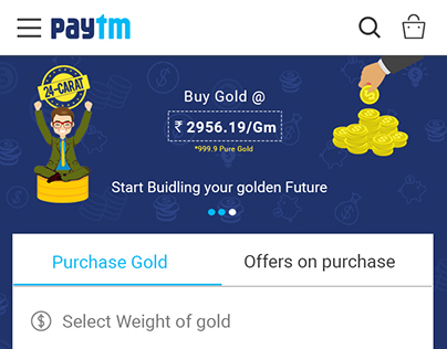Paytm Digital Gold Page Redesign   mSite