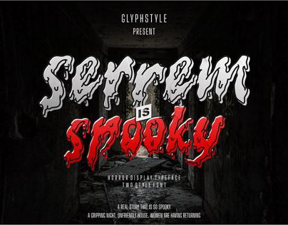 serrem - a spooky two style font