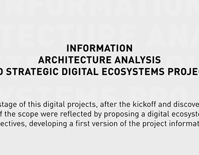 Information Architecture and digital ecosystem