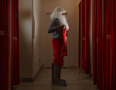 Santa Claus prepares for the New Year