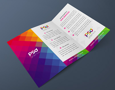 Tri-Fold Brochure Mockup Free PSD Graphics